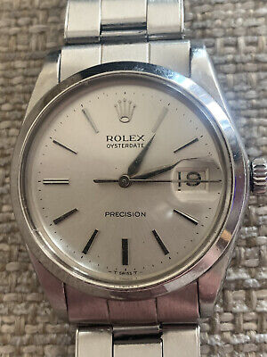 Rolex Oysterdate Precision Vintage Watch 34mm Good Used Condition Watch Only
