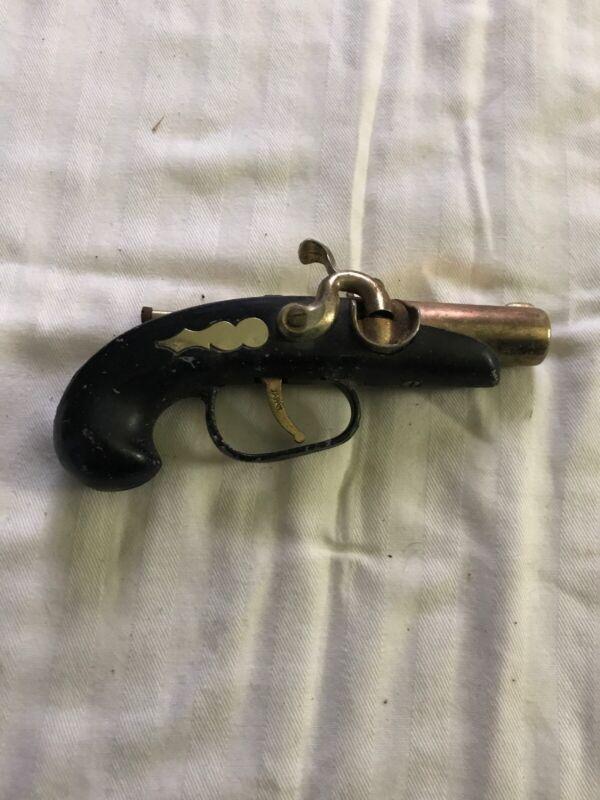Vintage Pirate Pistol Gun Table Cigarette Lighter Japan Japanese Old Collectible