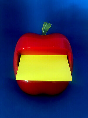 Red Apple Post It Pop Up Sticky Note Holder