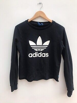 Ladies Adidas Black/White Sweater/Jumper - UK 10