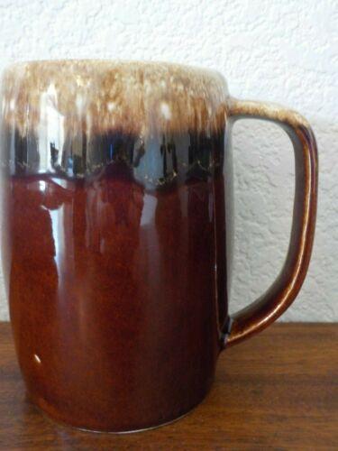 "Vintage Hull Pottery Brown Drip Glaze 5"" Mug Cup Stein USA, FREE SHIPPING"