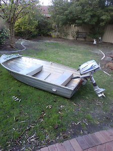 Dinghy and outbound motor Thornlie Gosnells Area Preview