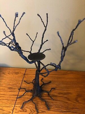 Black Haunted Halloween Tree For Smaller Ornaments or Pumpkin Candle