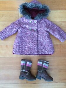 Girls Jacket 18-24 Months and Riding Boots Size 5