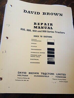 David Brown Service Manual 850 880 950 990 Reprint