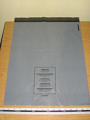 50 x Large Grey Mail Bags Strong Parcel Sacks approx 400mm x 500mm 16 x 20 A15