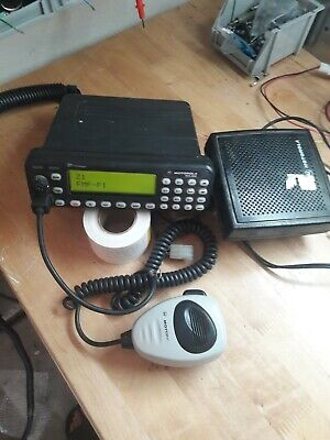 Motorola Mcs2000 800 Mhz Mobile Two Way Radio M01hx832w Ext Speaker And Mic