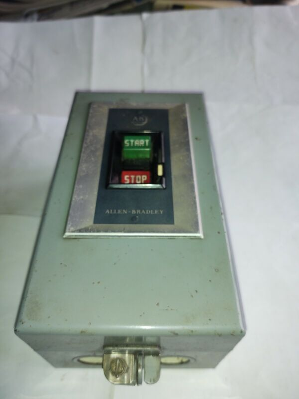 ALLEN-BRADLEY MANUAL STARTER  # 609-AOW, SIZE 0, 3 PH, SERIES F (WITH ENCLOSURE)