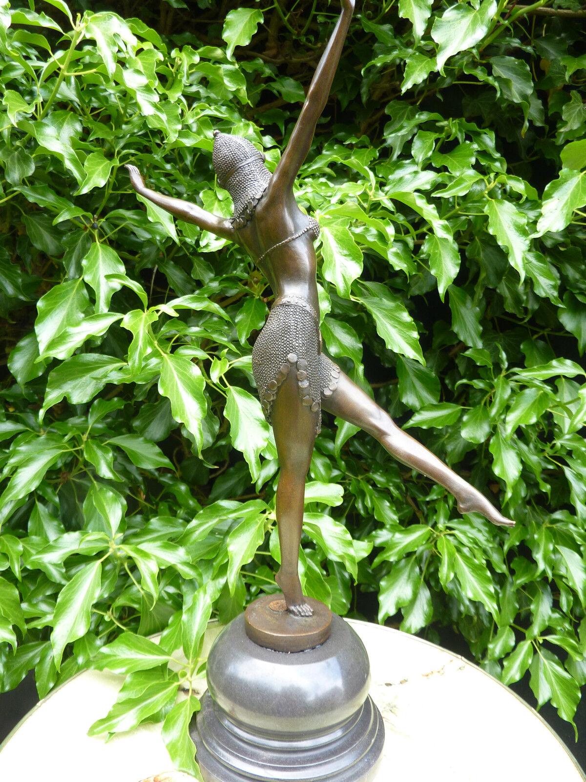 art deco bronze statue dancer palmyra signed chiparus figure hot cast figurine picclick. Black Bedroom Furniture Sets. Home Design Ideas