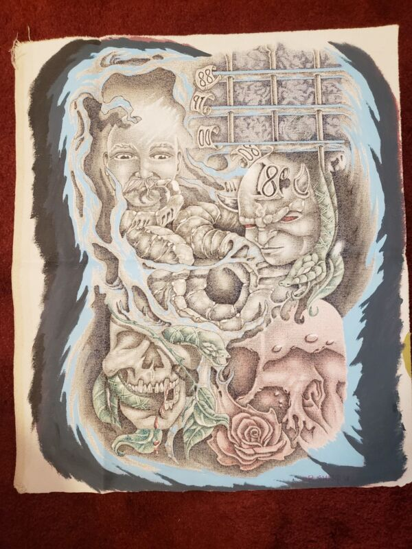 """Prison Art Drawing On Canvas - 19""""x16"""" - """"the Cycle Of Addiction"""""""