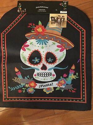 Fiesta  Halloween (1) Dead Sugar Skull Chair Party Slip Cover. 18
