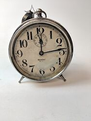 Antique Westclox Big Ben Alarm Clock Early 1900's peg legs 1915 patent date
