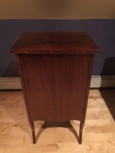 Solid Mahogany antique Record storage Cabinet