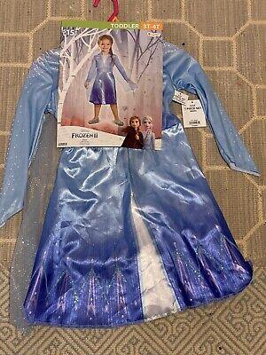 NEW Queen Elsa Disney Frozen 2 Play Dress Up Costume Toddler 3T-4T
