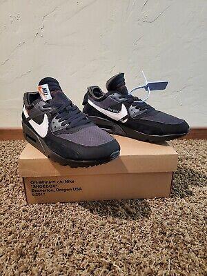 Nike air max 90 off white black 10.5