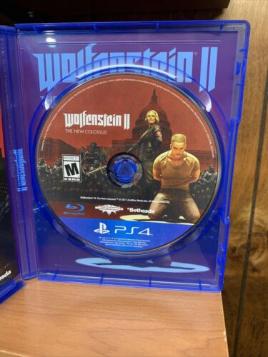 Wolfenstein II 2 The New Colossus Sony PlayStation 4, 2017 PS4 - $8.94