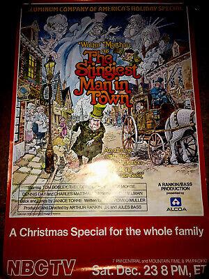 VTG  ORIG.1978 NBC TV PROMO POSTER RANKIN BASS A CHRISTMAS CAROL RARE