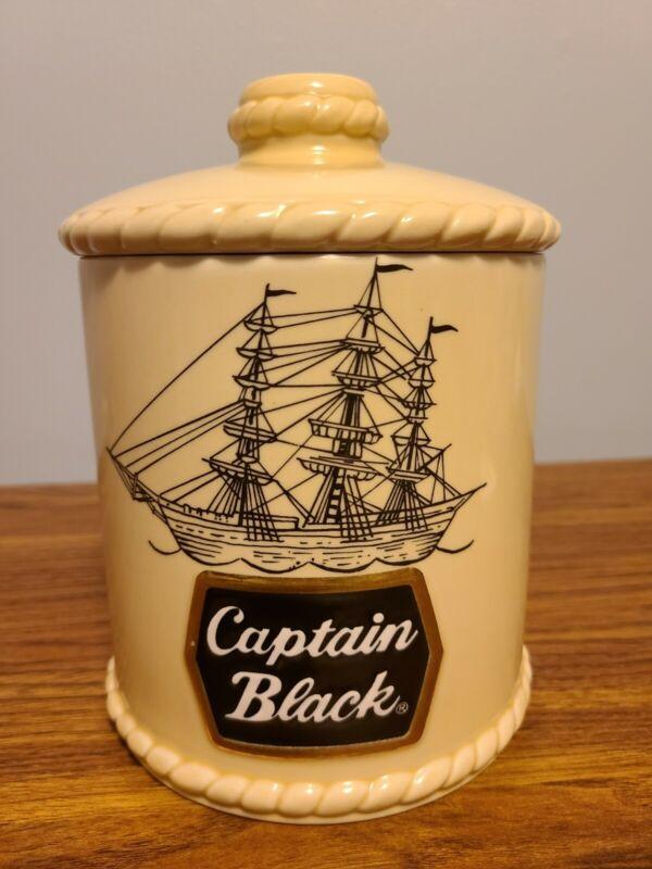 Captain Black Tobacco Humidor Jar Special Edition Ceramarte Brazil