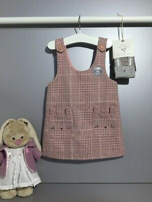 Next 2tlg Trägerkleid Strumpfhose Hase Ostern Outfit Wolle - Baby Ostern Outfits