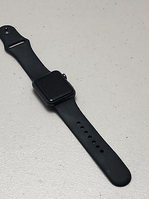 Apple Watch Series 1 38mm Aluminum Case Black Sport Band - 38 mm