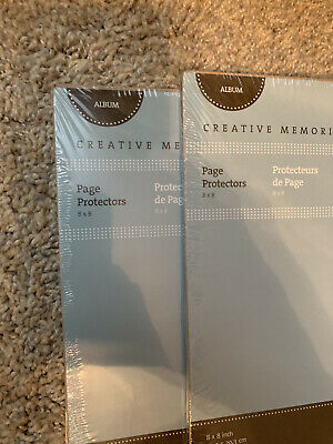 New Creative Memories 8 x 8 Sealed Retired ~ SIDE LOADING SLEEVES ~ 12 Pages 8x8