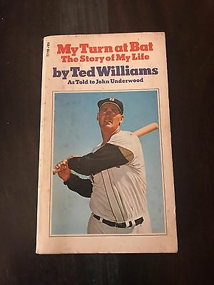 My Turn At Bat The Story Of My Life By Ted Williams As Told To Underwood 1970