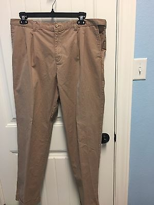 LANDS END Mens Size 37 Pants Legacy Chino Pleated Front Cuffs  -