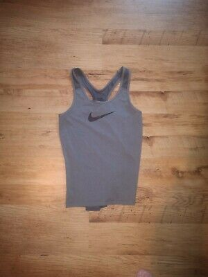 Nike Women's Grey Vest Training Top Size Small
