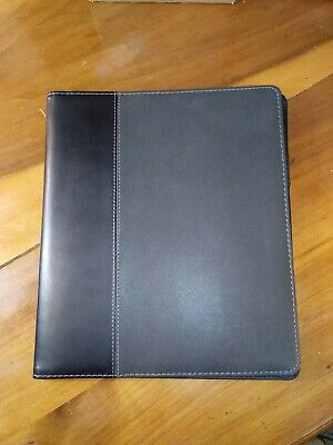 Black Faux Leather 10x9x14 Padfolio Document Business Presentation Folder