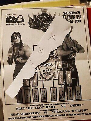 wwf wwe aew nxt ufc line up sheet program magazine king of the ring 1994