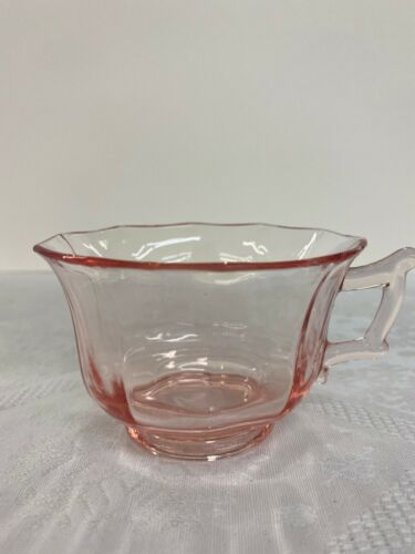 Octagon Pink Depression Glass Cups
