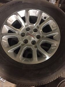2017 GMC Sierra 18 inch Polished Alloy wheels/tire