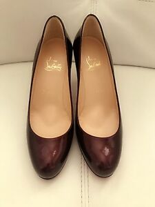 Christian Louboutin Prorata patent leather 85mm wine colour size 36.5 West Melbourne Melbourne City Preview