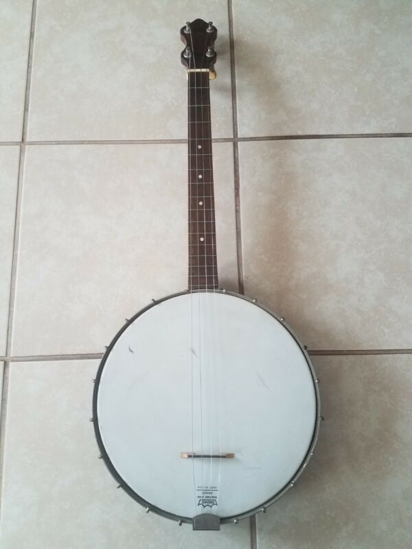Antique W. A. Cole 4 String Tenor Banjo c. 1917 Boston, Massachusetts; RARE!
