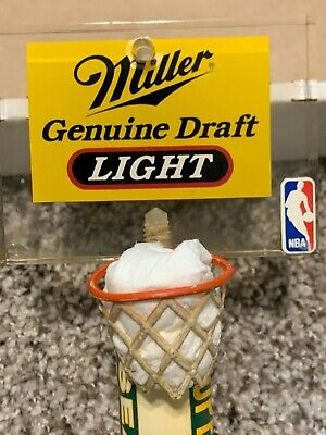 VINTAGE MILLER BEER NBA LOGO SEATTLE SUPERSONICS BEER TAP and SHAWN KEMP ROOKIE