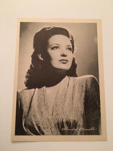 S11) Vintage 1946 Linda Darnell Actress 7x10 Publicity Biography Photograph