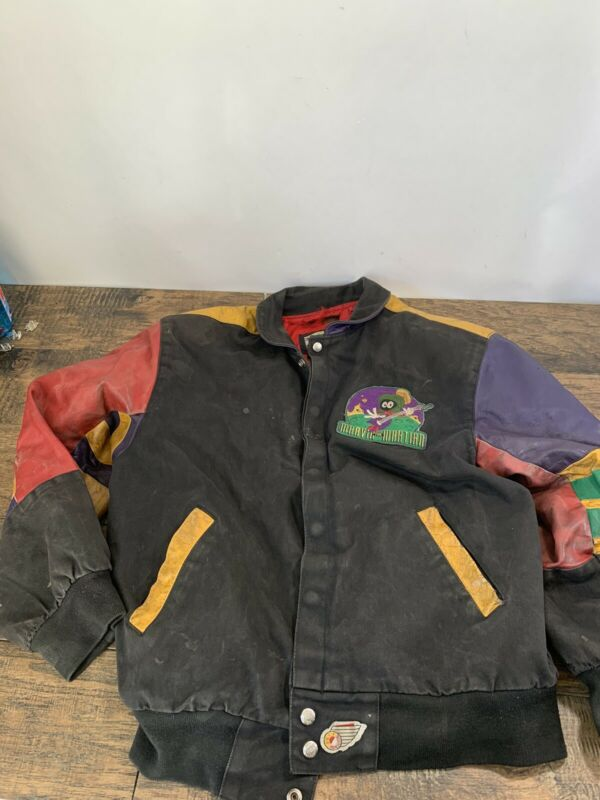 Marvin the Martian Jeff Hamilton Leather Jacket Vintage Bomber Size S C23