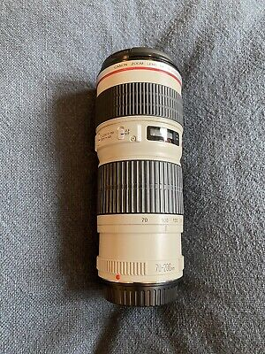 Canon EF 70-200mm f/4 L USM Lens with Filter
