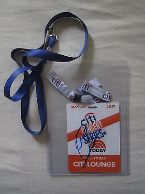 Miley Cyrus Signed Auto 2017 Citi Concert Series Plastic Badge With Lanyard Jsa