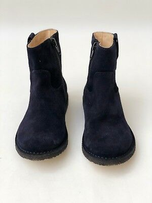 Kids Gallucci Blue Suede Boots - Size 10 US - Rubber Sole