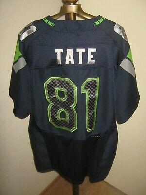 99ea73e3d NIKE Seattle Seahawks #81 Golden TATE Jersey ADULT 52/XL Stitch-On (12th  Man)