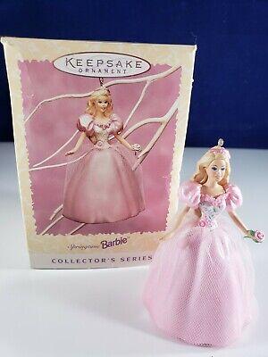 Vintage 1996 Springtime Barbie Doll Holiday Christmas Ornament Box