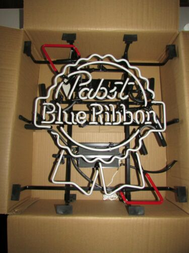 NO SHIPPING! Authentic New Pabst Blue Ribbon PBR Neon Beer Bar Sign Light
