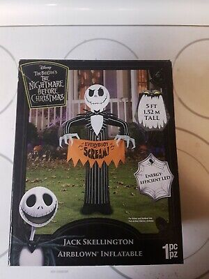 Nightmare Before Christmas Yard Inflatable Decor Scary Spooky Jack 5""