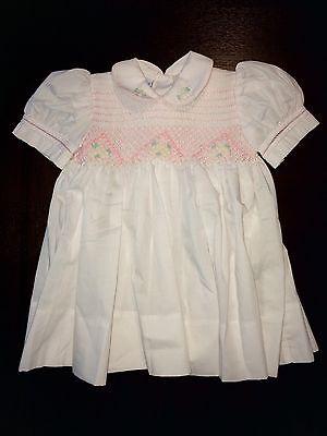 Cute Little Mädchen Kleider (Cute Baby Girls Little Diana Boutique Dress Size 6 Months White/Pink Floral NWOT)