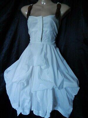 ALL SAINTS Dress Parachute Hitched Victorian Bustle Steampunk 6 8 34 36 US 2 4