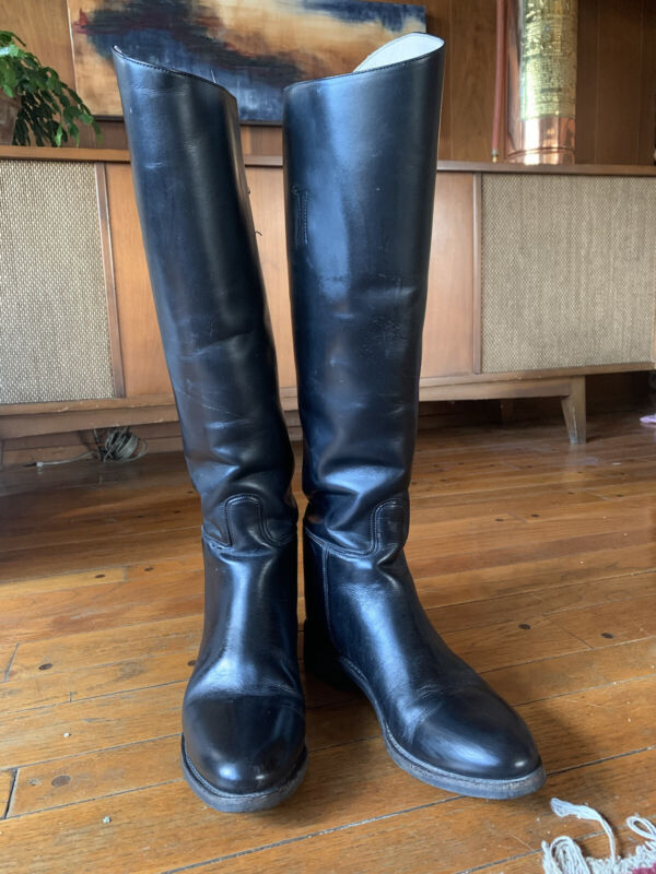 Effingham (Bond Boot Co) Equestrian Boots Black Leather Womens Size 9.5