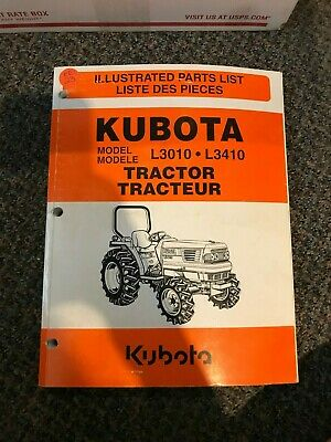 Kubota Tractor Illustrated Parts List L3010 L3410