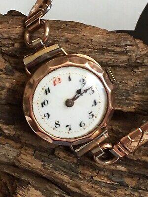 Ladies trench 9ct Gold watch