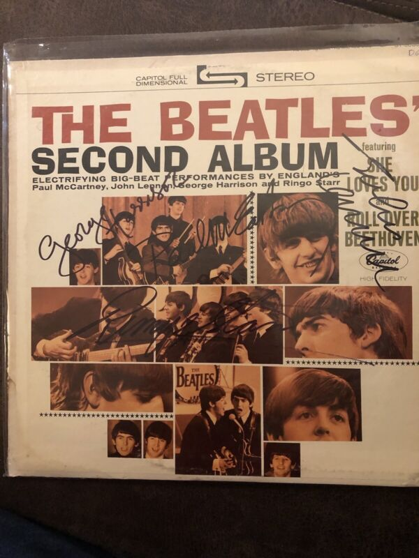 Signed The Beatles Second Album By All 4 Beatles With COA!